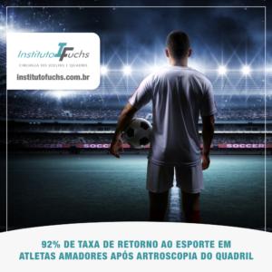 92% dos atletas amadores retornam ao esporte após artroscopia do quadril