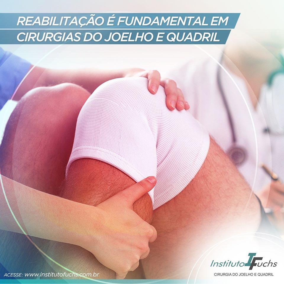 Reabilitação é fundamental em cirurgias do joelho e quadril
