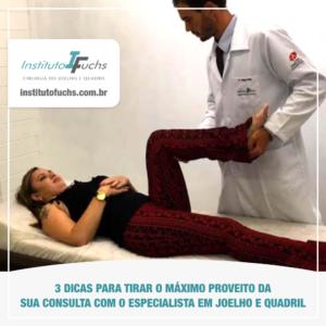 3 dicas para sua consulta com um especialista do joelho e quadril