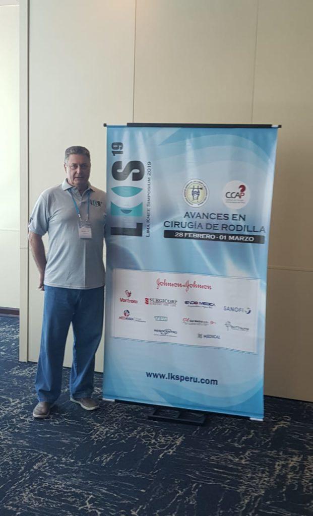 Dr. Rogério Fuchs palestra no Lima Knee Symposium