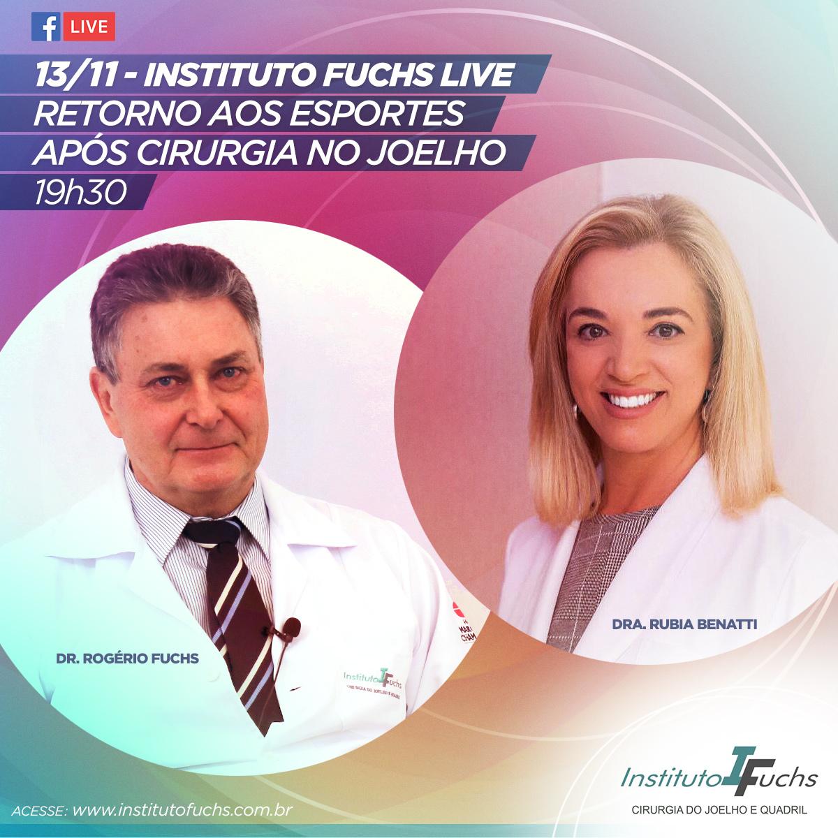 LIVE: Retorno à atividade física após cirurgia do joelho com Dr. Rogério Fuchs e Dra. Rubia Benatti