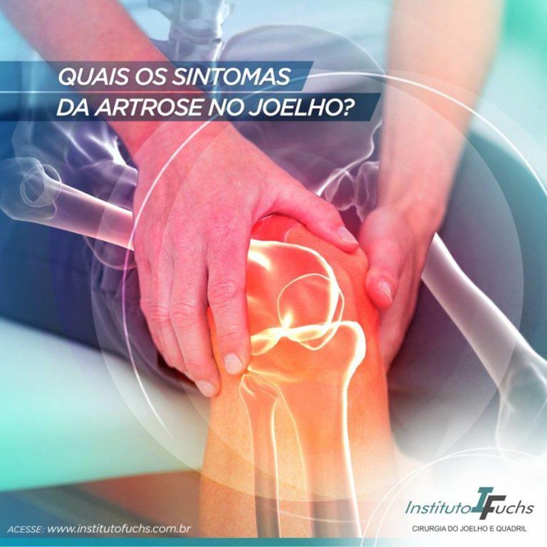Quais os sintomas da artrose no joelho?