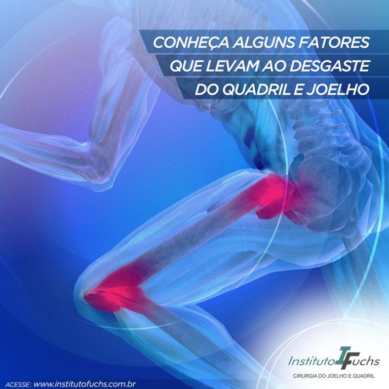 Conheça alguns fatores que levam ao desgaste do quadril e joelho