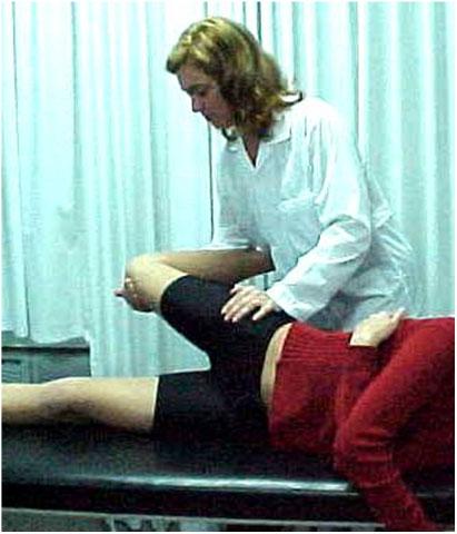Fig.12-B – Ex. físico – avaliação do músculo reto anterior da coxa